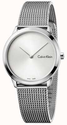 Calvin Klein Dames minimale horloge zilveren wijzerplaat K3M221Y6