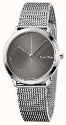 Calvin Klein Dames minimale horloge grijze wijzerplaat K3M22123