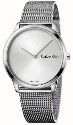 Calvin Klein Dames minimale horloge zilveren wijzerplaat K3M211Y6