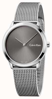 Calvin Klein Dames minimale horloge grijze wijzerplaat K3M221Y3