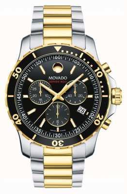 Movado Heren serie 800 chronograaf horloge | roestvrij stalen band | 2600146