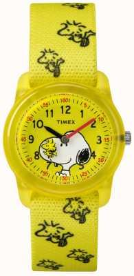 Timex Jeugd analoge gele band woodstock snoopy TW2R41500JE