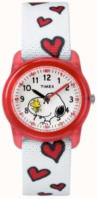 Timex Jeugd analoog witte band snoopy harten TW2R41600JE