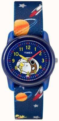 Timex Jeugd analoog blauwe band snoopy buitenruimte TW2R41800JE