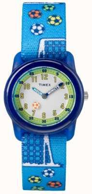 Timex Jeugd analoog blauwe band voetbal TW7C165004E