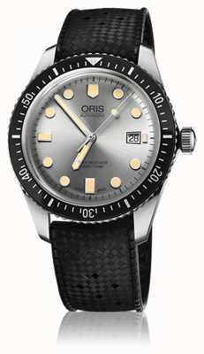 Oris Heren duiker vijfenzestig rubberen band horloge 01 733 7720 4051-07 4 21 18