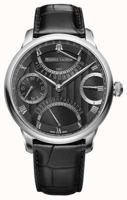 Maurice Lacroix Meesterwerk dubbele retrograde herenhorloge zwart horloge MP6578-SS001-331-1