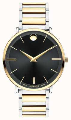 Movado Mens ultra slanke twee toon horloge 0607169