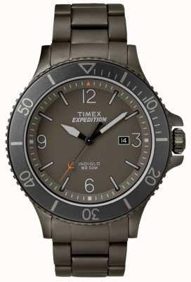 Timex Mens expeditie ranger pistool metalen armband grijze wijzerplaat TW4B10800