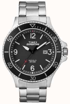 Timex Mens expeditie ranger metalen armband zwarte wijzerplaat TW4B10900