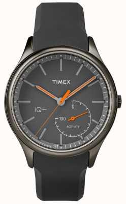 Timex Mens iq plus beweeg grijze siliconenband TW2P95000