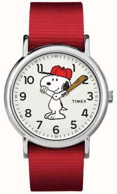 Timex Rood strap-snoopy horloge TW2R414006B