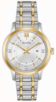 Bulova Vrouwen klassieke roestvrijstalen jurk horloge 98P175