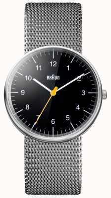 Braun Unisex staal mesh armband horloge BN0021BKSLMHG
