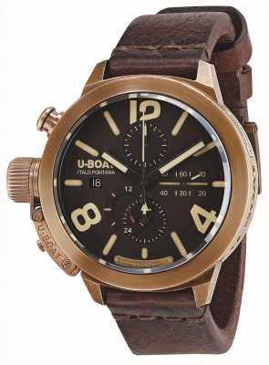 U-Boat Classico 50 bronzen ca br automatisch bruine lederen band 8064
