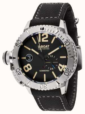 U-Boat Sommerso 46 bk automatische zwarte rubberen / nylon band 9007