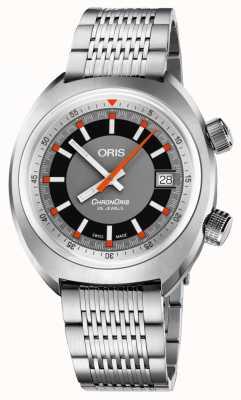 Oris Chronoris date grijze wijzerplaat roestvrijstalen armband 01 733 7737 4053-07 8 19 01