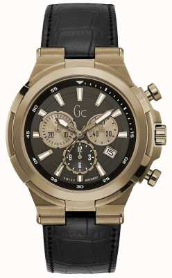 Gc Heren structura sport chic chronograaf brons Y23012G2