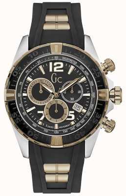 Gc Heren sportracer zilver zwart chronograaf horloge Y02011G2