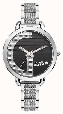 Jean Paul Gaultier Dames index g roestvrij stalen armband zwarte wijzerplaat JP8504318