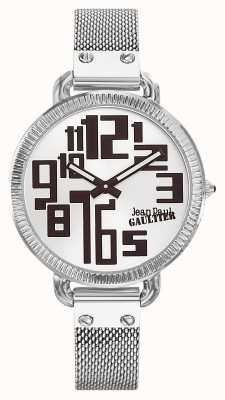 Jean Paul Gaultier Dames index roestvrij staal mesh zilveren wijzerplaat JP8504311