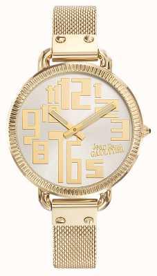 Jean Paul Gaultier Dames index gold pvd mesh zilverkleurige wijzerplaat JP8504309