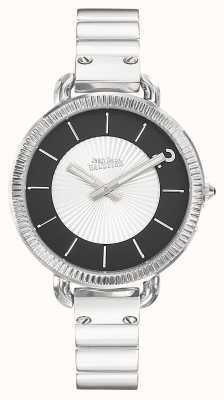 Jean Paul Gaultier Dames index roestvrij stalen armband zilverkleurige wijzerplaat JP8504301