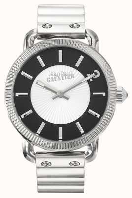 Jean Paul Gaultier Heren index roestvrij stalen armband zilveren wijzerplaat JP8504401
