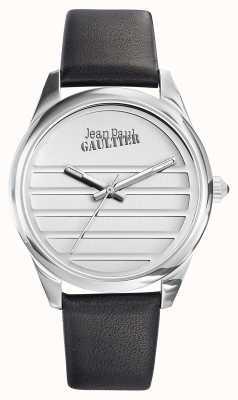 Jean Paul Gaultier Marineblauwe leren riem witte wijzerplaat JP8502408