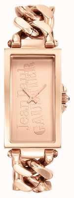 Jean Paul Gaultier Enchainee rose goud pvd armband roségouden wijzerplaat JP8500904