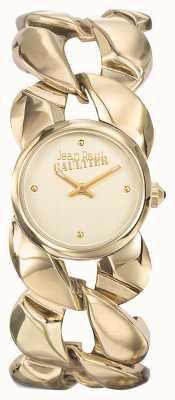 Jean Paul Gaultier Dames maxi chaine gouden pvd armband gouden wijzerplaat JP8504602