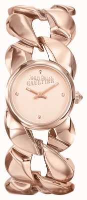 Jean Paul Gaultier Dames maxi chaine rose gouden pvd armband roségouden wijzerplaat JP8504603