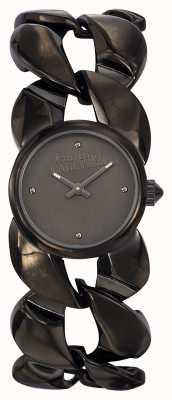 Jean Paul Gaultier Dames maxi chaine gun metalen armband en wijzerplaat JP8504604