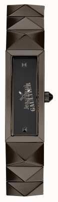 Jean Paul Gaultier Womens mini punk gun metal armband zwarte wijzerplaat JP8504003