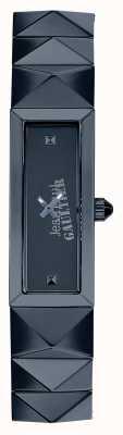Jean Paul Gaultier Dames mini punk blauwe roestvrij stalen blauwe wijzerplaat JP8504004