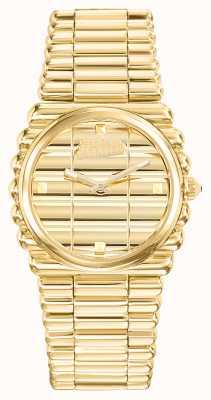 Jean Paul Gaultier Bordeaux gouden wijzerplaat gouden pvd armband gouden wijzerplaat JP8504102