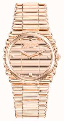 Jean Paul Gaultier Dames bord cote rosé gouden pvd armband rosé gouden wijzerplaat JP8504106