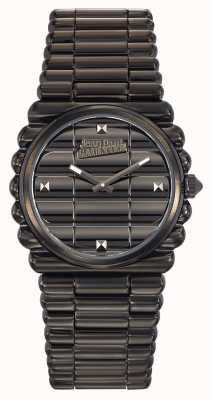 Jean Paul Gaultier Informele wijzerplaat zwart pvd armband zwarte wijzerplaat JP8504103