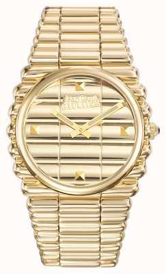 Jean Paul Gaultier Mens bord cote gouden pvd armband gouden wijzerplaat JP8504202