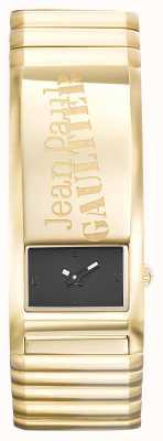 Jean Paul Gaultier Identite gouden pvd armband zwarte wijzerplaat JP8503705