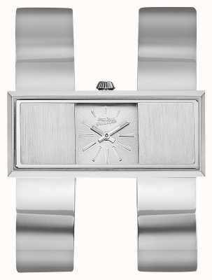 Jean Paul Gaultier Dames dubbele jeu roestvrij stalen armband zilveren wijzerplaat JP8505005