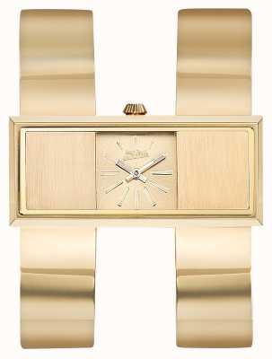 Jean Paul Gaultier Dubbele gouden jeu goud pvd armband gouden wijzerplaat Dames JP8505006