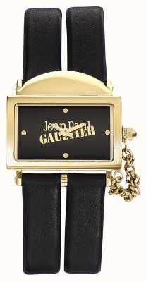 Jean Paul Gaultier Zwarte wijzerplaat lederen zwarte wijzerplaat 325 mm JP8501608