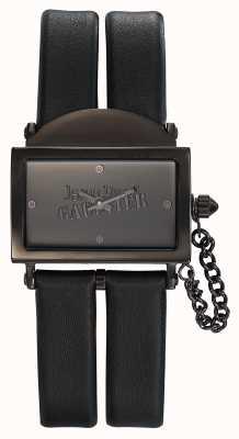 Jean Paul Gaultier Zwarte wijzerplaat lederen zwarte wijzerplaat 325 mm JP8501610