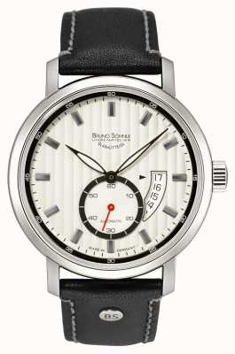 Bruno Sohnle Pesaro ii automatische 44mm zwart lederen horloge 17-12150-267