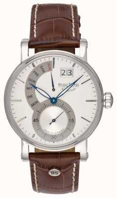 Bruno Sohnle Pesaro II 43mm bruin lederen horloge 17-13073-283