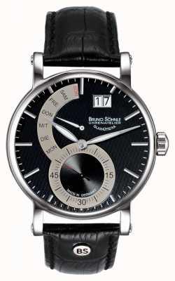 Bruno Sohnle Pesaro II 43mm zwart lederen horloge 17-13073-781