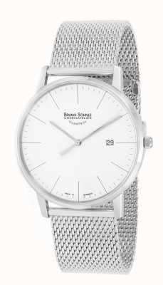 Bruno Sohnle Stuttgart i 42mm roestvrij staal mesh horloge 17-13175-240