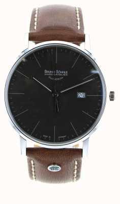 Bruno Sohnle Stuttgart i 42mm bruin lederen horloge 17-13175-841