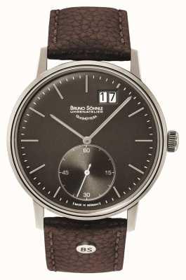 Bruno Sohnle Stuttgart ii 42mm bruin lederen horloge 17-13179-841